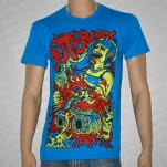 Outbreak Worm Girl Teal Blue T-Shirt