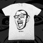 Owl Vision Zombie Face White T-Shirt