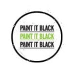 official Paint It Black Triple Logo White Pin