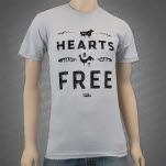 peta2 All Hearts Be Free Silver T-Shirt