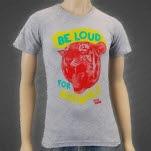 peta2 Be Loud For Animals Grey T-Shirt