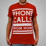 Phone Calls From Home Lines Red T-Shirt