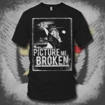 Picture Me Broken Front Woman Black T-Shirt