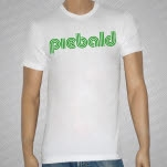 Piebald Logo Green on White T-Shirt