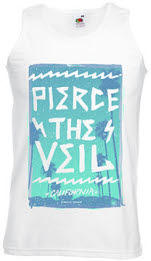 Pierce The Veil Hollywood Palm Trees Mens Tank Vest