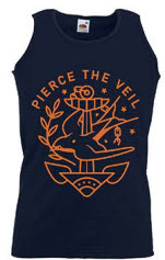 Pierce The Veil Bird And Anchor Mens Tank Vest