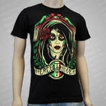 Pierce The Veil Girl Face Black T-Shirt