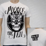Pierce The Veil King For A Day White T-Shirt