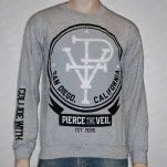 Pierce The Veil PTV Heather Grey Crewneck Sweatshirt