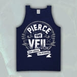 Pierce The Veil Seal Navy Tank Top