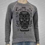Pierce The Veil Sugar Skull Heather Grey Crewneck Sweatshirt