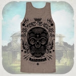 Pierce The Veil Sugar Skull Tri Coffee Tank Top