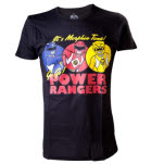 Power Rangers Its Morphin Time Black T-Shirt