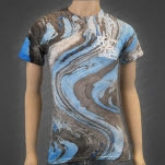 Prepared Like A Bride Monogram Marble Blue Tiger Tie Dye T-Shirt