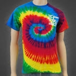 Prepared Like A Bride Monogram Reactive Rainbow Tie Dye T-Shirt