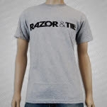 Razor  Tie Logo Black on Gray T-Shirt
