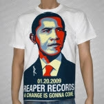 Reaper Records Change White T-Shirt