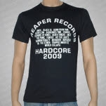 Reaper Records Reaper Roster 2009 Black T-Shirt