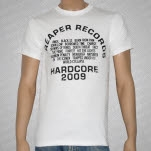 Reaper Records Reaper Roster 2009 White T-Shirt