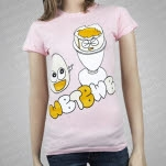 official Redfield Records Eggs Pink Girls T-Shirt