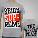 Reign Supreme Logo Heather Grey T-Shirt