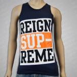 Reign Supreme Logo Navy Tank Top