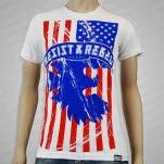 Resist  Rebel American White T-Shirt
