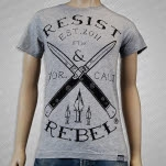 Resist  Rebel Blades Athletic Heather T-Shirt