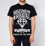 Resist  Rebel Diamond Black T-Shirt