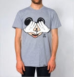 Resist  Rebel Mickey Illuminati Heather T-Shirt