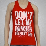 Restless Streets Dreams Red Tank Top