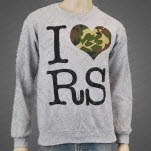 Restless Streets I Heart RS Grey Crewneck Sweatshirt
