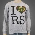 Restless Streets I Heart RS Grey Crewneck Sweatshirt