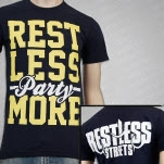Restless Streets Party More Navy T-Shirt