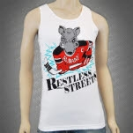 Restless Streets River Rats White Tank Top
