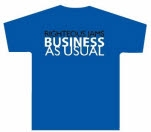 Righteous Jams Business As Usual Blue T-Shirt