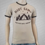 Riot Fest Riot Camp Heather Tan T-Shirt