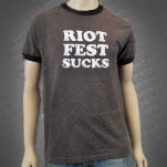 Riot Fest Riot Fest Sucks Brown T-Shirt