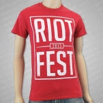 Riot Fest Riot Square Heather Red T-Shirt