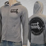 Rise Above Dial Heather Grey Pullover