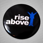 Rise Above Logo Black Pin