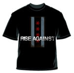 Rise Against Flag Black T-Shirt