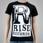 Rise Records Big R Logo Black T-Shirt