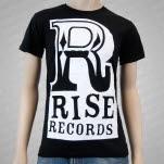 Rise Records Big R Logo Black T-Shirt