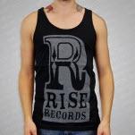 Rise Records Big R Black Tank Top