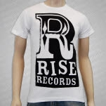 Rise Records Big R White T-Shirt