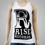 Rise Records Big R Logo White Tank Top