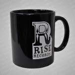Rise Records Logo Black Coffee Mug