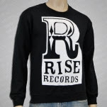 Rise Records Logo Black Crewneck Sweatshirt