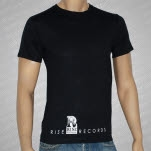 Rise Records Logo Black T-Shirt